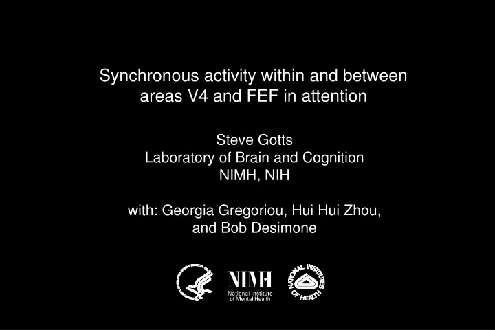 synchronous activity within and between areas n.