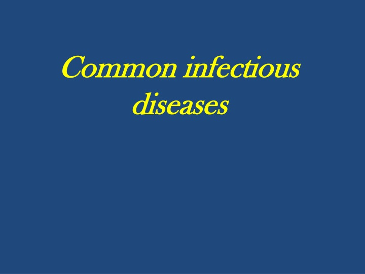 common infectious diseases n.