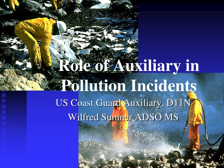 role of auxiliary in pollution incidents n.