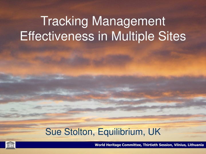 tracking management effectiveness in multiple sites n.