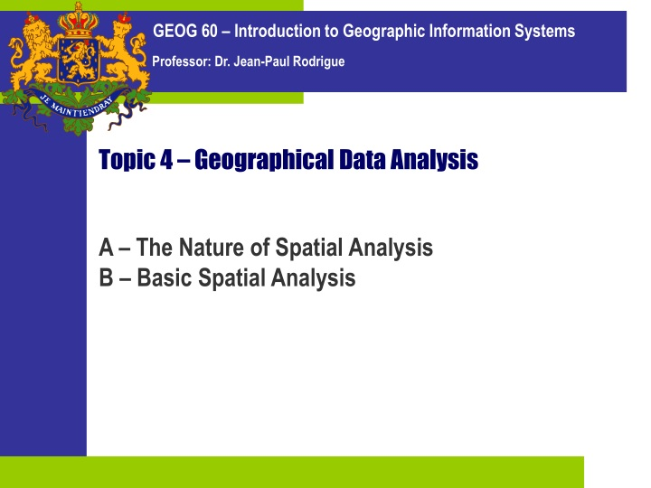 topic 4 geographical data analysis n.