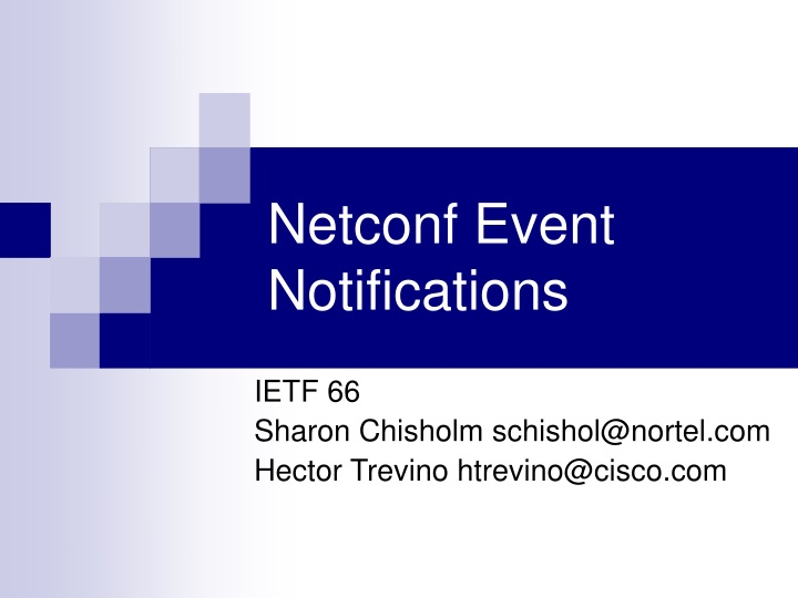 netconf event notifications n.