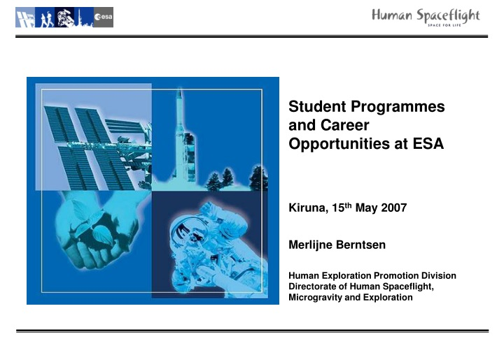 student programmes and career opportunities n.