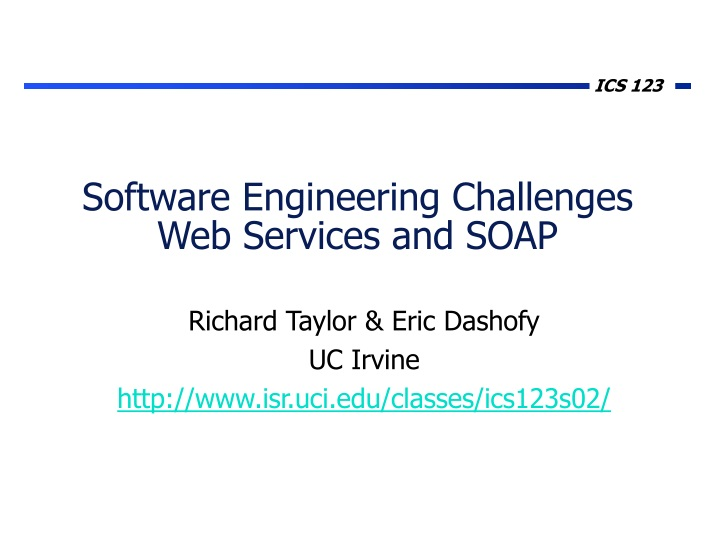 software engineering challenges web services and soap n.