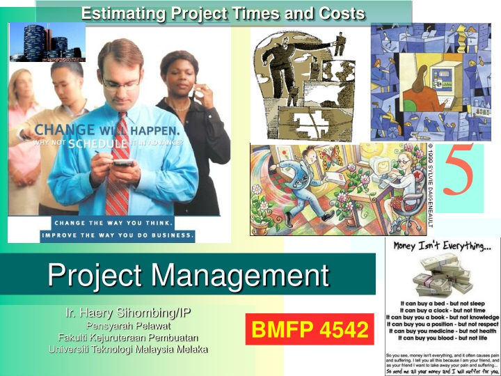estimating project times and costs n.