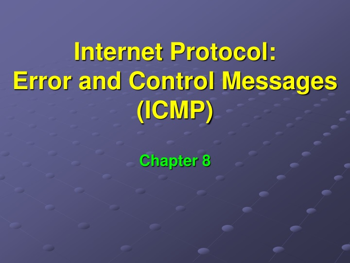 internet protocol error and control messages icmp n.