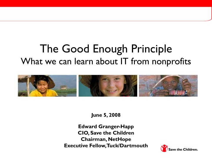the good enough principle what we can learn about it from nonprofits n.