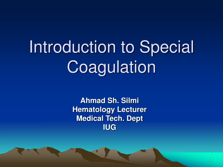 introduction to special coagulation n.