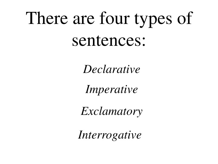 there are four types of sentences n.