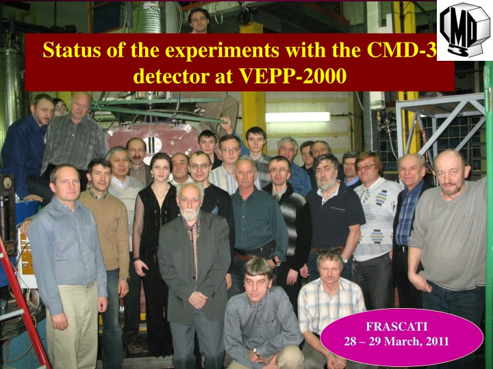 status of the experiments with the cmd 3 detector n.