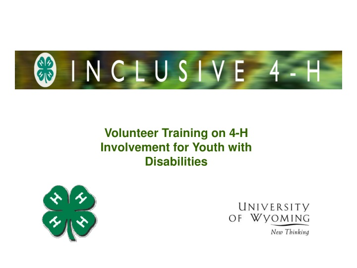 volunteer training on 4 h involvement for youth n.