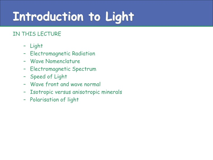 introduction to light n.