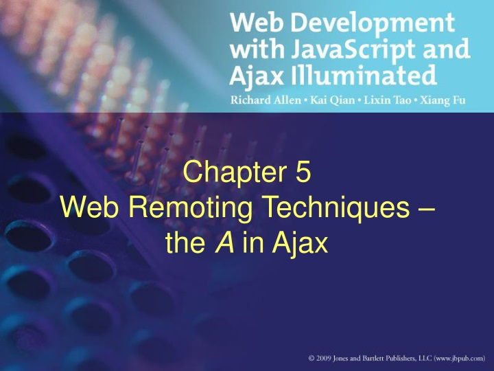 chapter 5 web remoting techniques the a in ajax n.