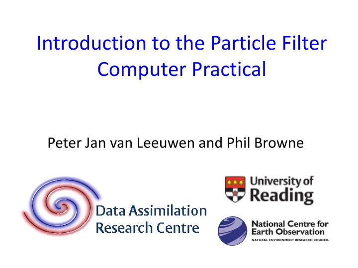 introduction to the particle filter computer practical n.