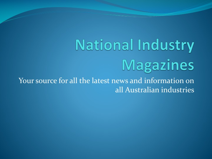 national industry magazines n.