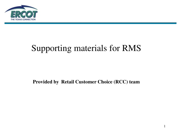 supporting materials for rms provided by retail n.