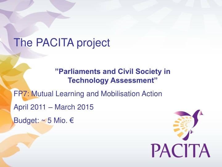 the pacita project parliaments and civil society n.
