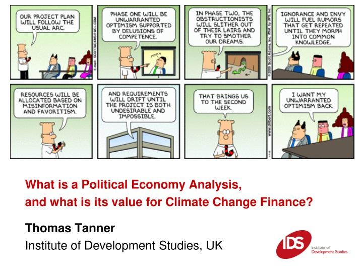 what is a political economy analysis and what n.