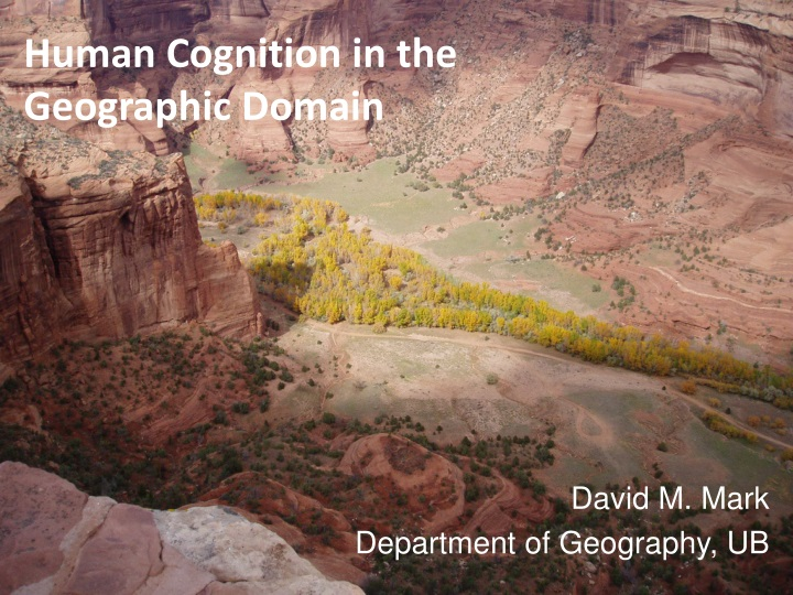 human cognition in the geographic domain n.