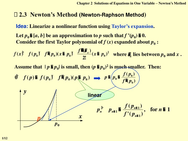 chapter 2 solutions of equations in one variable n.
