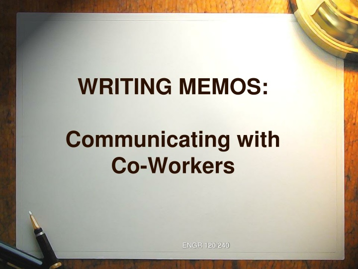 writing memos communicating with co workers n.