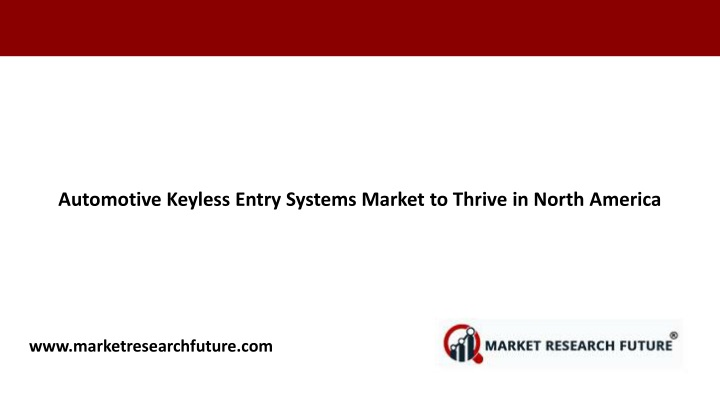 automotive keyless entry systems market to thrive n.