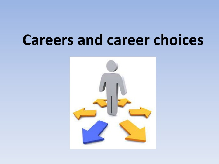 careers and career choices n.