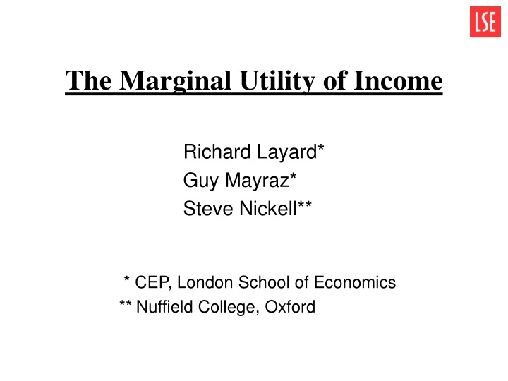 the marginal utility of income n.
