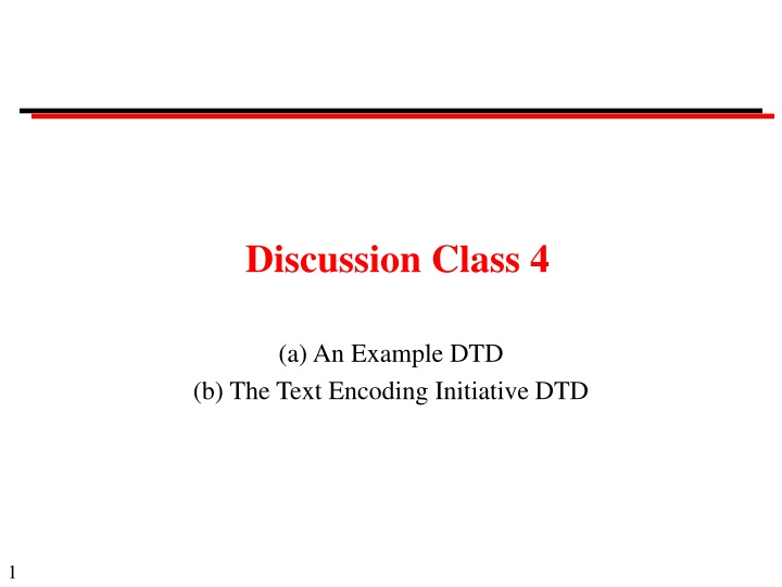discussion class 4 n.