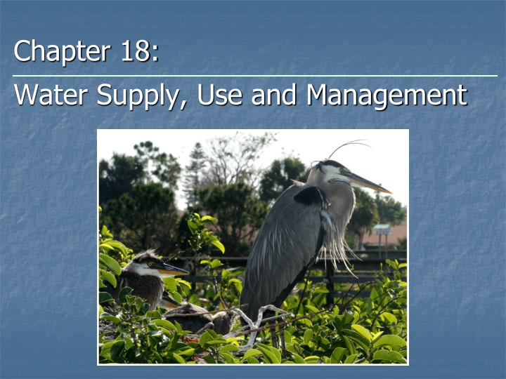 chapter 18 water supply use and management n.