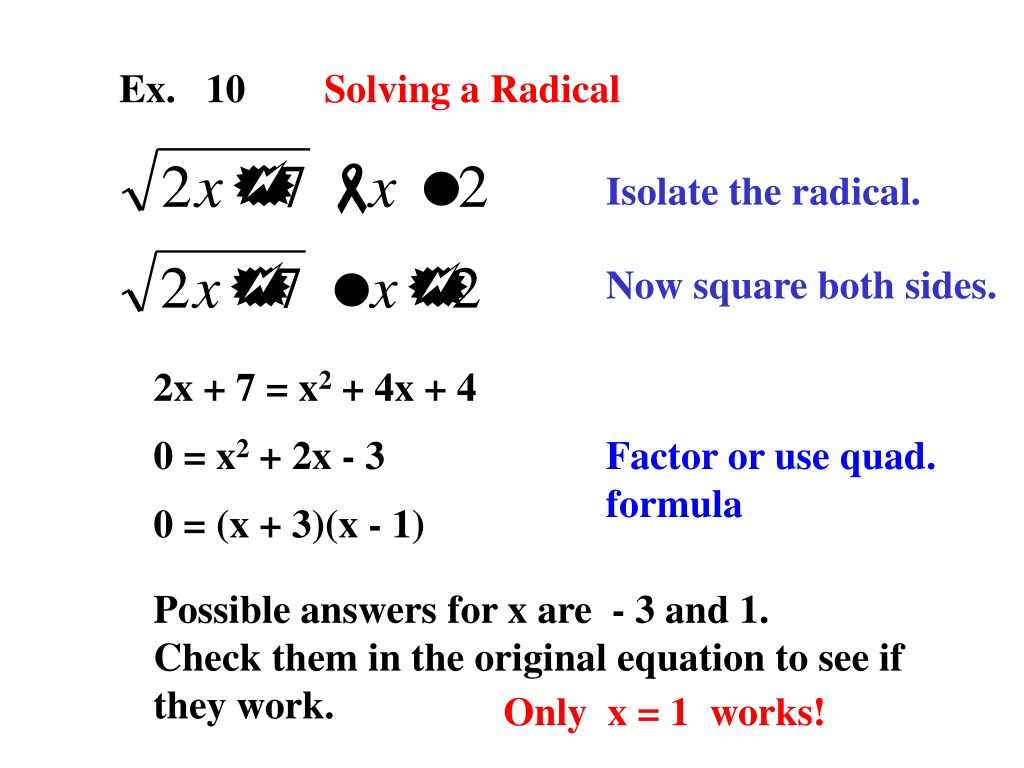 Ppt Ex 1 Solve By Factoring 2x 2 9x 7 0 6x 2 3x 0 Powerpoint Presentation Id 9195576