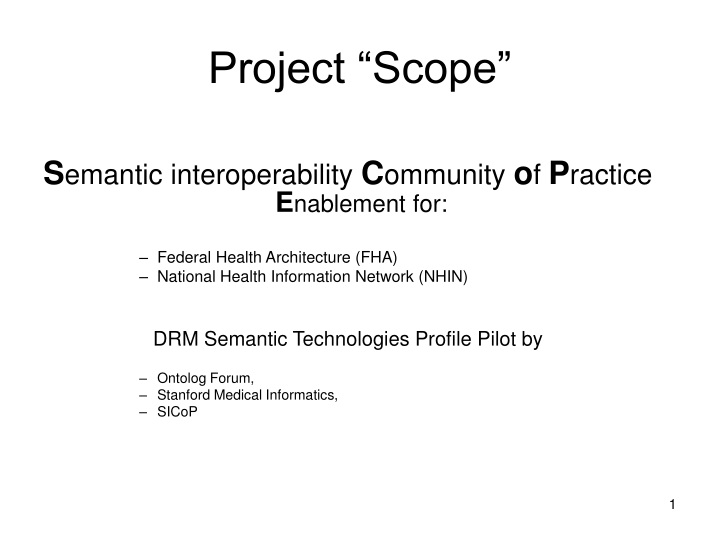 project scope n.