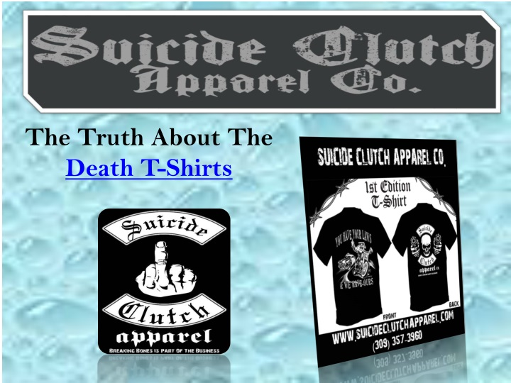 the truth about the death t shirts n.