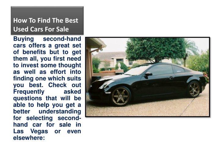 how to find the best used cars for sale n.