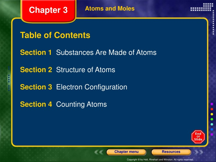 atoms and moles n.