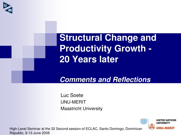 structural change and productivity growth 20 years later comments and reflections n.