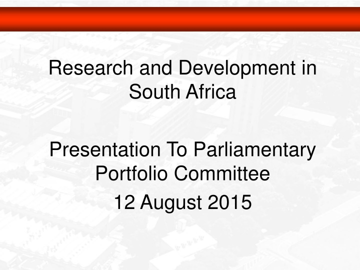 research and development in south africa n.