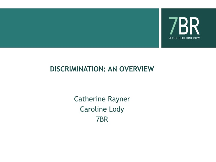discrimination an overview catherine rayner caroline lody 7br n.