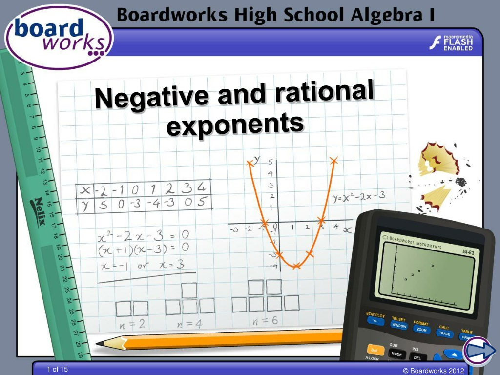 PPT - Negative and rational exponents PowerPoint ...