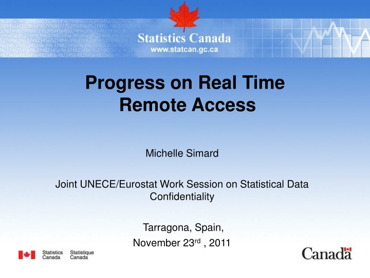 progress on real time remote access n.