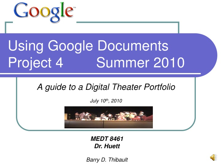 using google documents project 4 summer 2010 n.