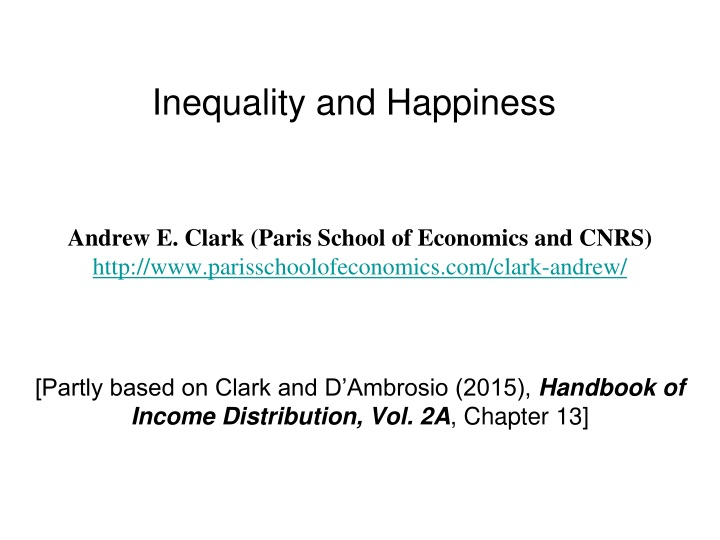 inequality and happiness n.