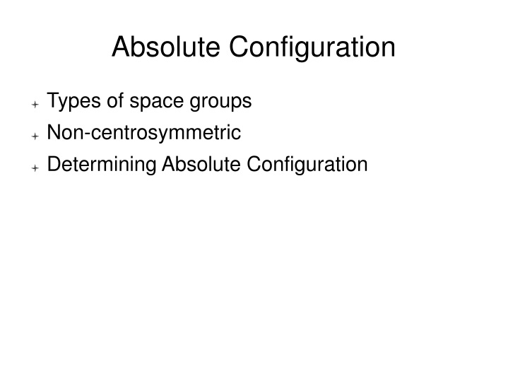 absolute configuration n.