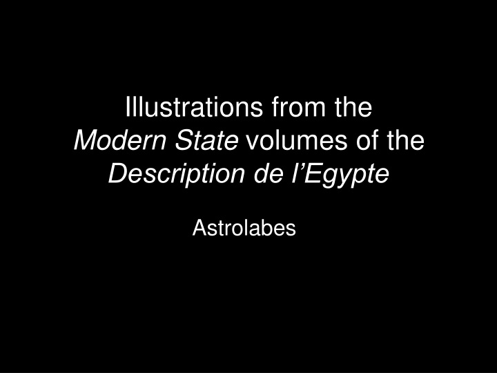 illustrations from the modern state volumes of the description de l egypte n.