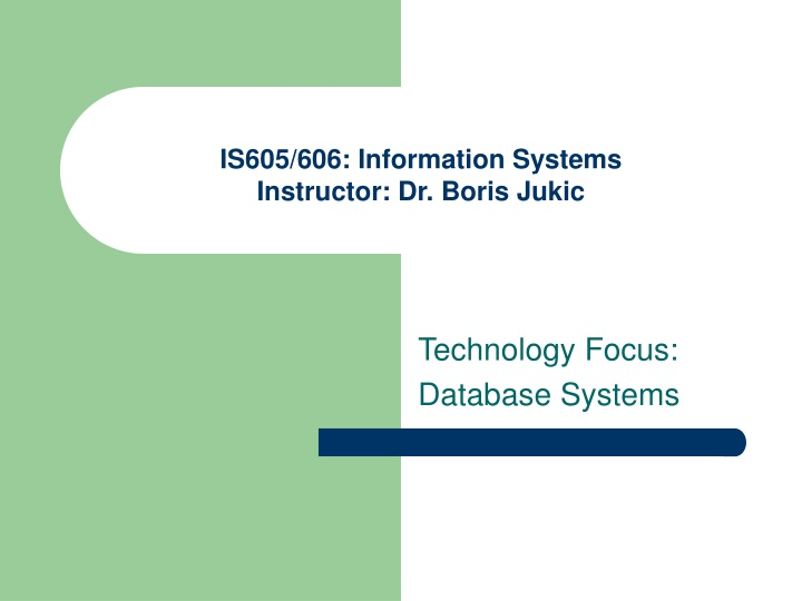 is605 606 information systems instructor dr boris jukic n.