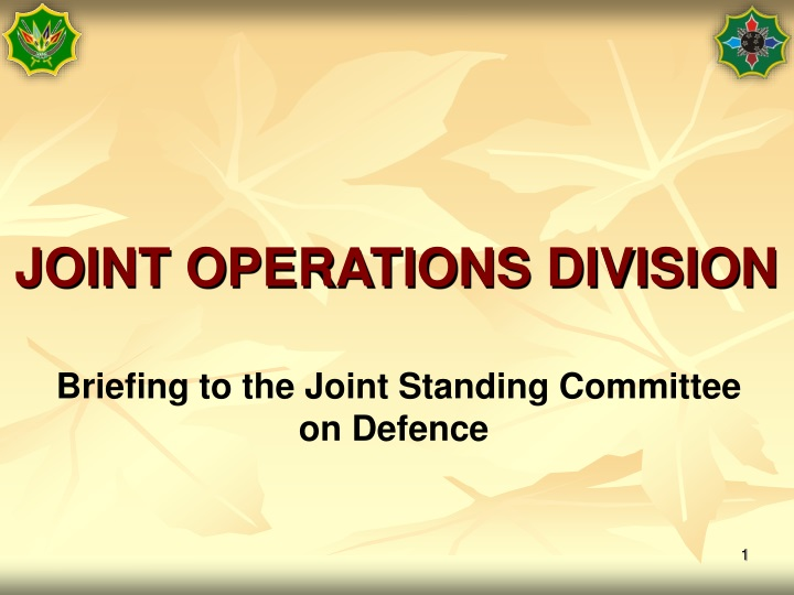 joint operations division n.