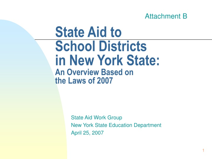 state aid to school districts in new york state an overview based on the laws of 2007 n.
