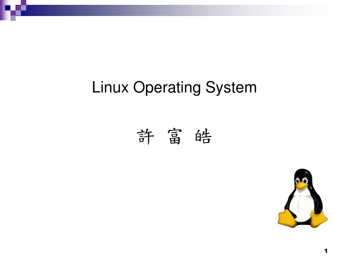linux operating system n.
