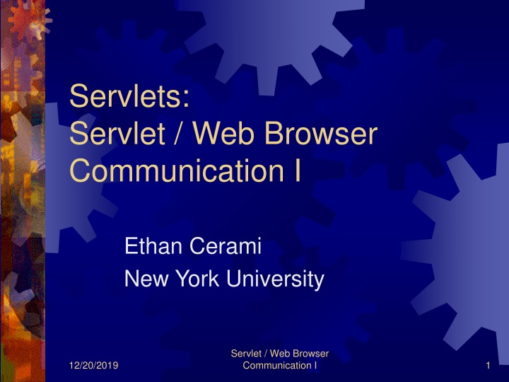 servlets servlet web browser communication i n.
