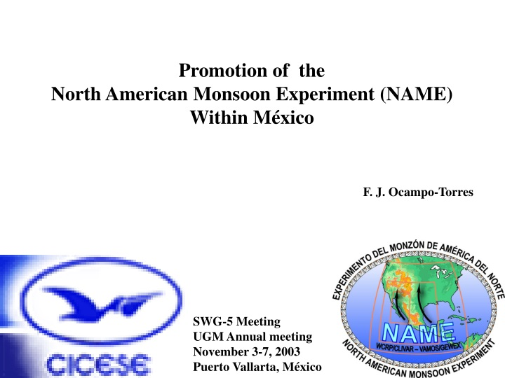 promotion of the north american monsoon n.
